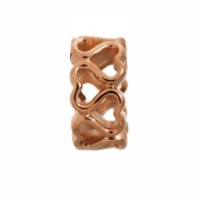 Endless Jewelry Multiple Hearts Rose Goud bedel