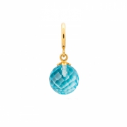 Endless Jewelry Sky blue Love Drop Verguld bedel