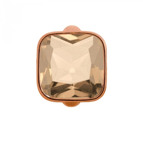 Endless Jewelry Big Rose Cube Rose Goud bedel