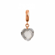 Endless Jewelry Clear Heart Cut Drop Rose Goud