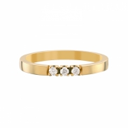 Aller Spanninga Memoire Ring 3 x 0,03ct 11155