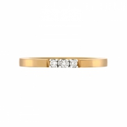 Aller Spanninga Memoire Ring 3 x 0,02ct 11155