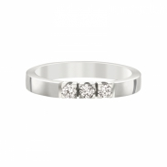 Aller Spanninga Memoire Ring 3 x 0,07ct 11155