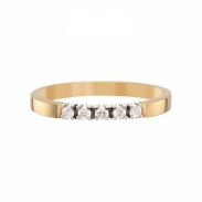 Aller Spanninga Memoire Ring 5 x 0,05ct 11155