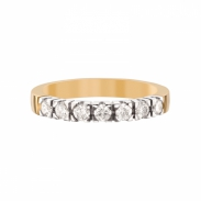 Aller Spanninga Memoire Ring 7 x 0,07ct 11155