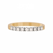 Aller Spanninga Memoire Ring 9 x 0,03ct 11155