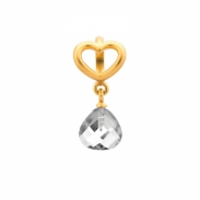 Endless Jewelry Clear Heart Grip bedel