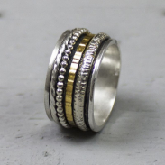 Jeh Jewels Ring zilver + Gold FIlled Creatief 19691-57