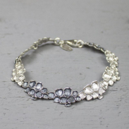 Jeh Jewels Armband zilver oxy / wit 19624