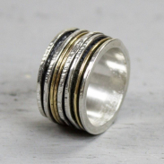Jeh Jewels Ring zilver + Gold Filled Strak 19436